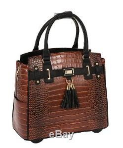 JKM and Company BOSTON Rolling Briefcase Tote Bag