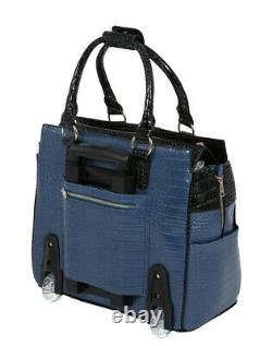 JKM and Company THE OCEANSIDE Rolling Briefcase Tote Bag
