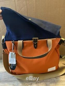 J. Crew x Nanamica Roll Top Twill Briefcase- Made in Japan- Filson Style