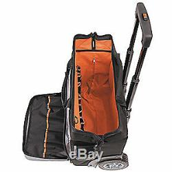 KLEIN TO 600D Polyester Rolling Tool Bag, 24 Pockets, 19x12-1/2, 55452RTB, Black