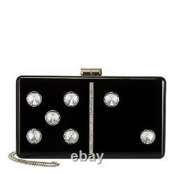 Kate Spade New York Roll Domino Clutch Patent Leather Crossbody Bag NEW $248
