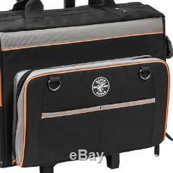 Klein 55452RTB 19 x 14-Inch 24 Pockets Tradesman Pro Rolling Tool Bag