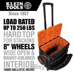 Klein 55473RTB 19 Pocket Telescoping Tradesman Pro Tool Master Rolling Tool Bag