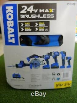 Kobalt 6 Tool Combo Kit 24V Max Brushless-BRAND NEW with rolling bag/cart