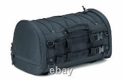 Kuryakyn Momentum Rambler Roll Luggage Rear Passenger Seat Rack Black Bag Harley