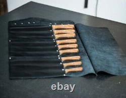 Leather knife roll, Knife roll, Chef knife roll, Chef knife bag, case knife