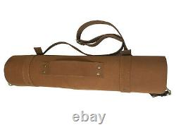 Lightweight Premium Genuine Leather 8 Slots Professional Chef Knives Bag/Roll K4
