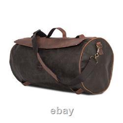 Longride Gepäckrolle Roll Bag Waxcotton, Khaki, für Harley-Davidson
