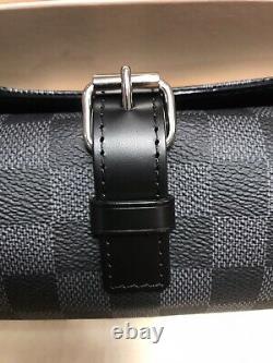 Louis Vuitton Graphite Damier 3 Watch Case Roll Sold Out Rare Patek Rolex AP