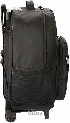 Luggage 17 Inch Rolling Backpack Wheeled School Travel Bag Carry-on Black