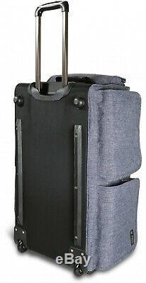 Mavii Rolling Duffel Bag Costume Rack Collapsible Lightweight Solid Grey 28 inch
