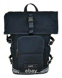 Michael Kors Rucksack Kent Rolltop Backpack Schwarz Neu