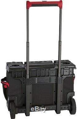 Milwaukee 24 in. Hardtop Rolling Wheels Storage Tool Bag Jobsite Ballistic