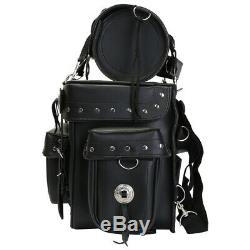 Motorcycle Motorbike Luggage Bag Sissy Bar Biker Saddle Panniers Tool Roll Box
