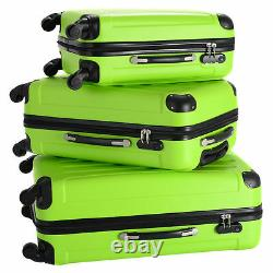 NEW 3 Pieces Set Hard Sides Luggage Travel Carry on Bag Trolley Spinner Suitcase