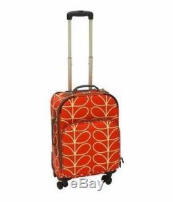 NEW! Orla Kiely Roller 21 Spinner Luggage Rolling Bag Orange Stem