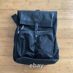 NEW Tumi Alpha Bravo London Roll Top Laptop Backpack Black