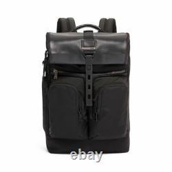 NEW Tumi Men's Alpha Bravo London Roll-Top Backpack, BLACK