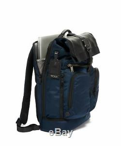 NEW Tumi Men's Alpha Bravo London Roll-Top Backpack, NAVY BLUE