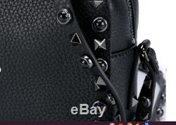 NEW Valentino Garavani Rockstud Rolling Noir Black Shoulder Crossbody Bag $1845