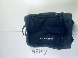 NWOT Under Armour Black Rolling Carry On Luggage Duffel Travel Bag UA