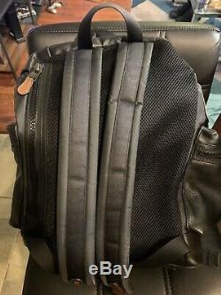 NWT Coach F50503 Men Large Leather Terrain Roll Top Trek 15 Laptop Backpack