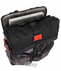 NWT Tumi Men's Alpha Bravo London Roll-Top Backpack, Charcoal Restoration