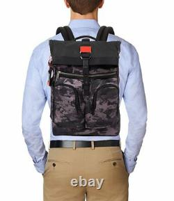 NWT Tumi Men's Alpha Bravo London Roll-Top Backpack, Charcoal Restoration