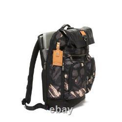 NWT Tumi Men's Alpha Bravo London Roll-Top Camo Backpack, Gray Grey Highlands