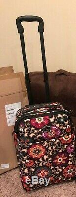 NWT Vera Bradley SUZANI 22 inch Rolling Carry On Bag Luggage Suitcase