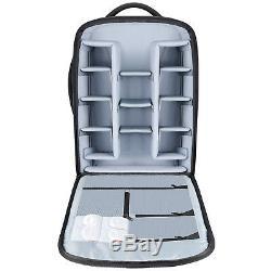 Neewer Black Nylon Convertible Rolling Camera Backpack Case Bag 21.7x13.8x10.2