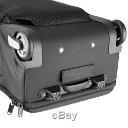 Neewer Nylon Convertible Rolling Camera Backpack Case Bag 21.7x13.8x10.2 Black