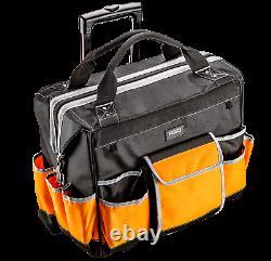 Neo Tools Technicians Heavy Duty Wheeled Rolling Trolley Tool Bag 84-302