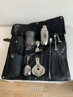 New Deleon Tequila Bar Tools Roll-Up Bartender Toolkit Bag, Cocktail Travel Case