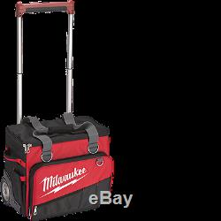 New Milwaukee 48-22-8221 18 Hardtop Rolling Storage Tool Bag Kit Heavy Duty