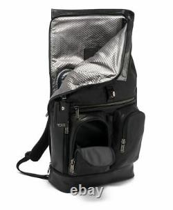 New Tumi Alpha Bravo London Roll-Top Backpack Black Leather 932388DL