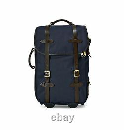 New in Box Filson Rugged Twill Med Rolling Carry-On Bag Suitcase NAVY Blue $625