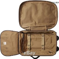 New in Box Filson Rugged Twill Rolling Carry-On MED Bag Suitcase 22 TAN $625