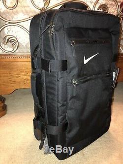 Nike Fiftyone 49 Luggage Large Roller Bag Wheeled Rolling Suitcase Black