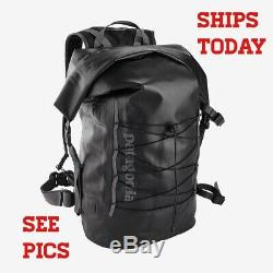 Patagonia Stormfront Roll Top Pack Backpack 45L Black NEW NWT SEE PICS