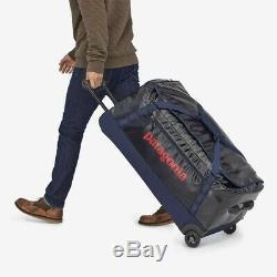 Patagonia black hole wheeled rolling duffel bag, 100 L, classic navy blue