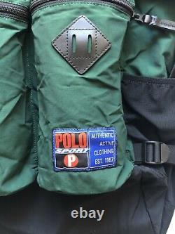 Polo Ralph Lauren Sport Mountain Roll-Top Sportsman Backpack Outdoors Green New