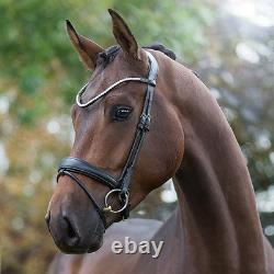 Premiera Latina Anatomical Rolled Flash Snaffle Bridle with Free Bridle Bag