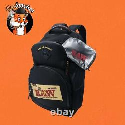 RAW x Rolling Papers Bake Pack Black Bookbag Smell-proof Authentic Backpack
