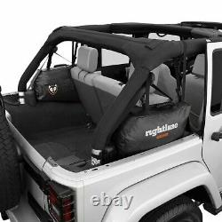 Rightline Gear Roll Bar Black Storage Bag Set 2007-2017 Jeep Wrangler JK 4 Door