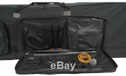 Rockville Rolling Bag 88 Key Keyboard Case with Wheels+Trolley Handle+Large Pocket