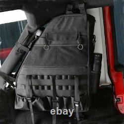 Roll Bar Storage Bag Cage Multi-Pockets for Jeep Wrangler JK JKU TJ LJ 4 Doors
