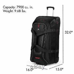 Rolling Duffle Bag Wheeled Luggage 32 With Backpack Straps Telescoping Handle