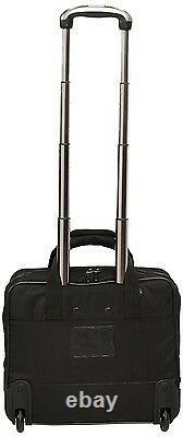 Rolling Laptop Case for Women Bag Briefcase Black Wheeled Computer 17 Travel