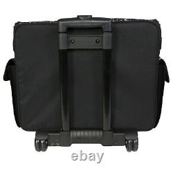 Rolling Sewing Machine Tote Case 21 Storage Spaces Portable Bag Carry Handle